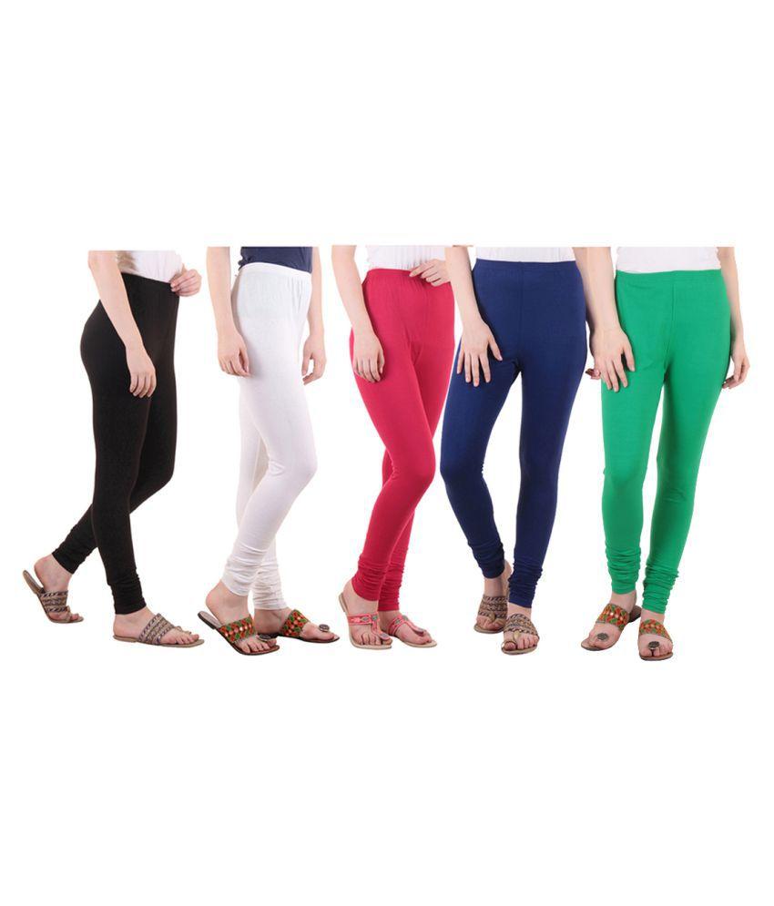 Diaz Cotton Lycra Pack of 5 Leggings
