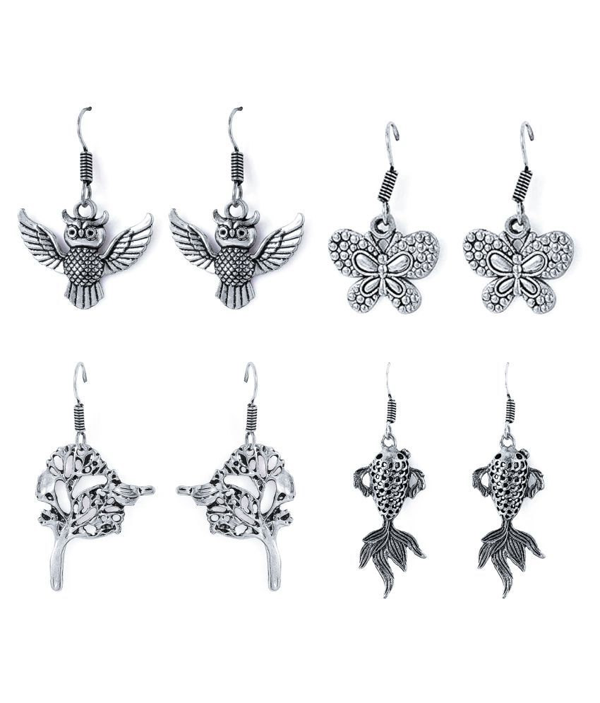 Factorywala Silver Alloy Earrings