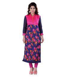 Kapadewala Multicoloured Bhagalpuri Silk Printed Semi Stitched Kurti
