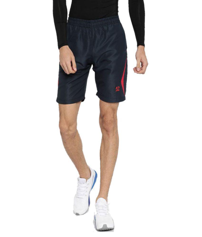 Sports 52 Wear Blue Polyester Running Shorts Single
