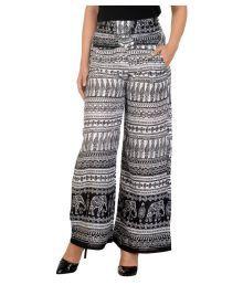 New Fashion Multi Color Rayon Palazzos - 627913230301