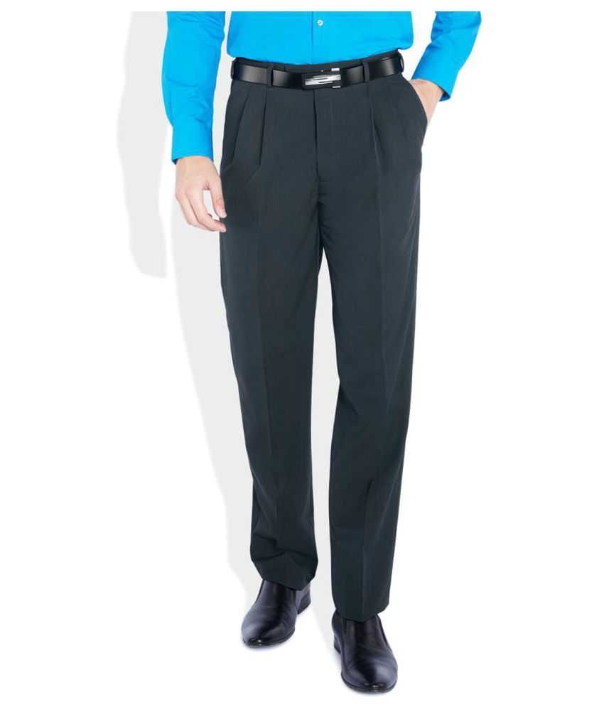 Raymond Black Regular Pleated Trouser