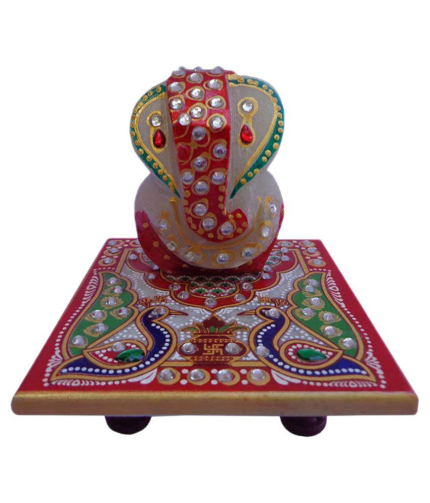 Manvi Marble Ganesh Chowki