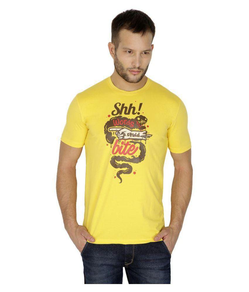 Tarkshyam Trendz Yellow Round T-Shirt