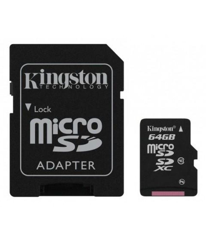 Kingston 64GB Micro SD Xc Class 10 Memory Card With Adapter