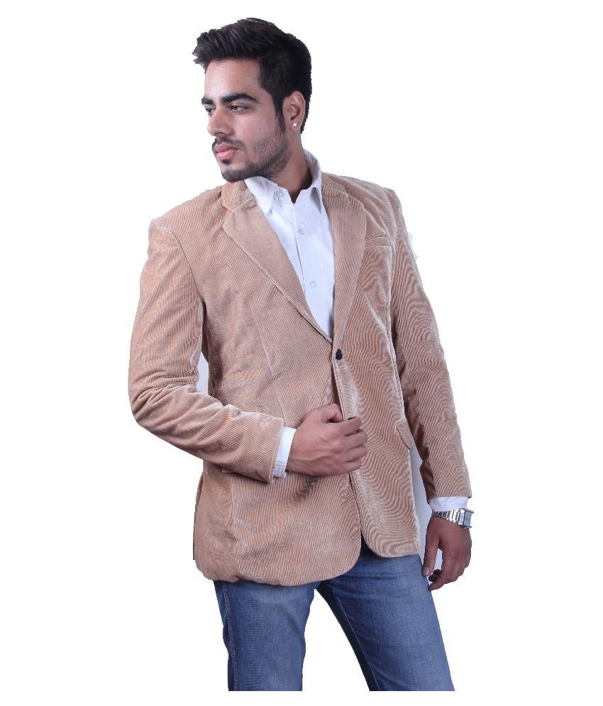 Intrend Beige Solid Formal Blazer
