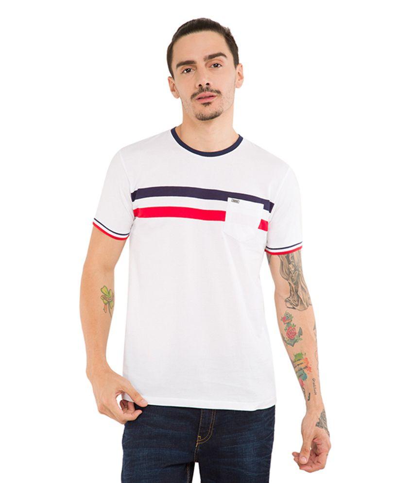 Locomotive White Round T-Shirt