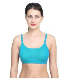 Bahucharaji Creation Blue Poly Georgette Cami Bra
