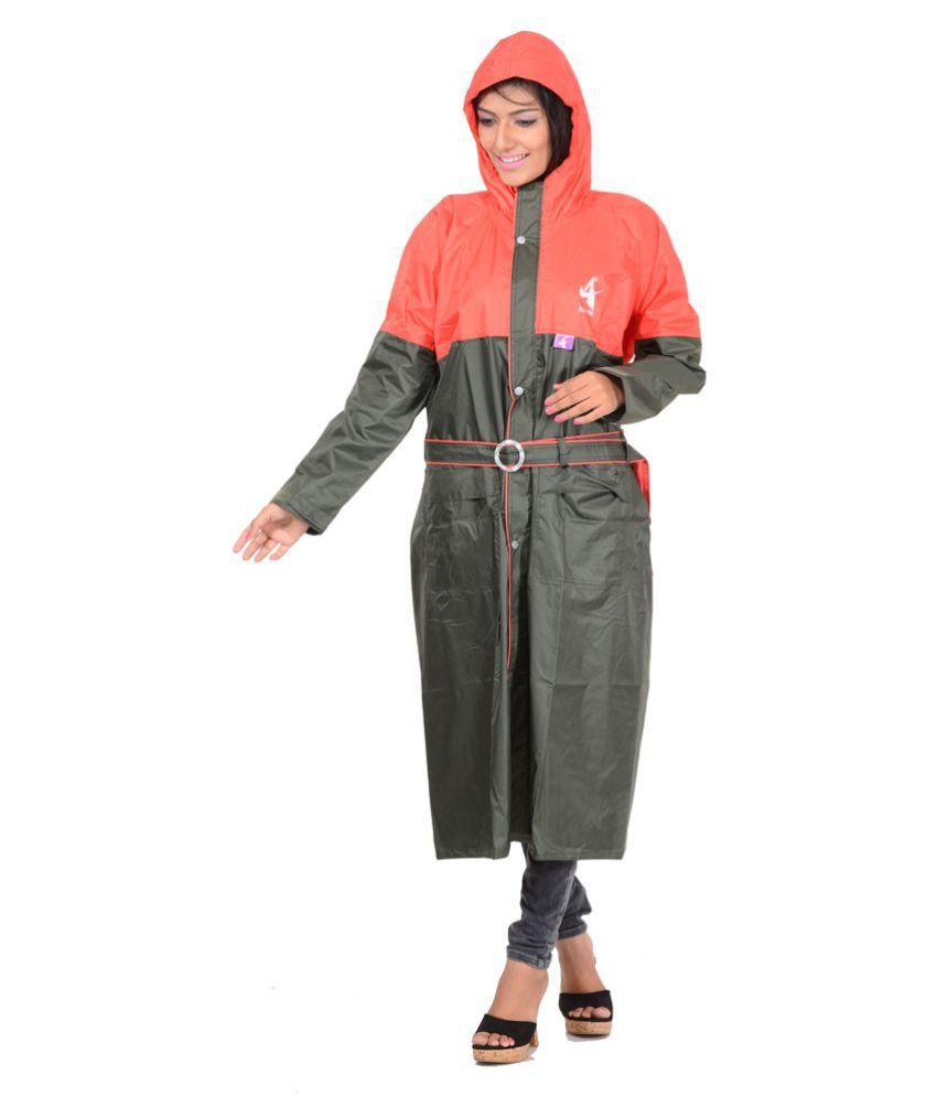 Allwin Multi Color Polyester Long Raincoat