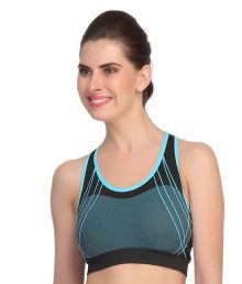 Bahucharaji Creation Blue Nylon Cami Bra