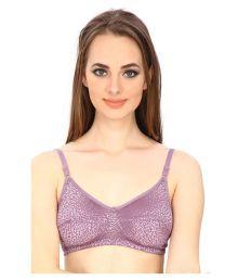 Secret Wish Purple Lace T-Shirt/ Seamless Bra - 653042651774