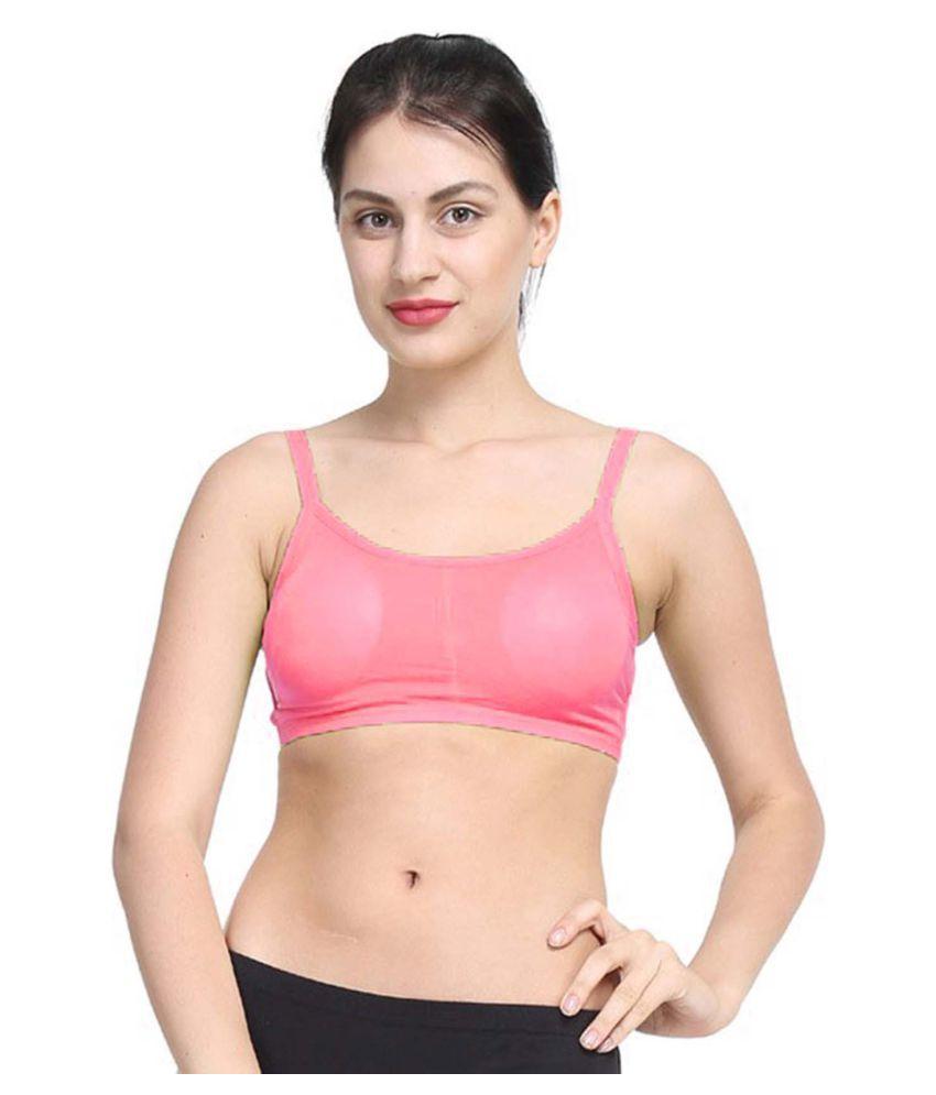 Bahucharaji Creation Pink Cotton Lycra Cami bra