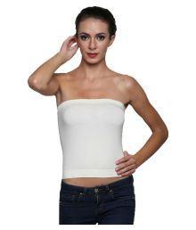 Dealseven Fashion White Cotton Lycra T-Shirt/ Seamless Bra