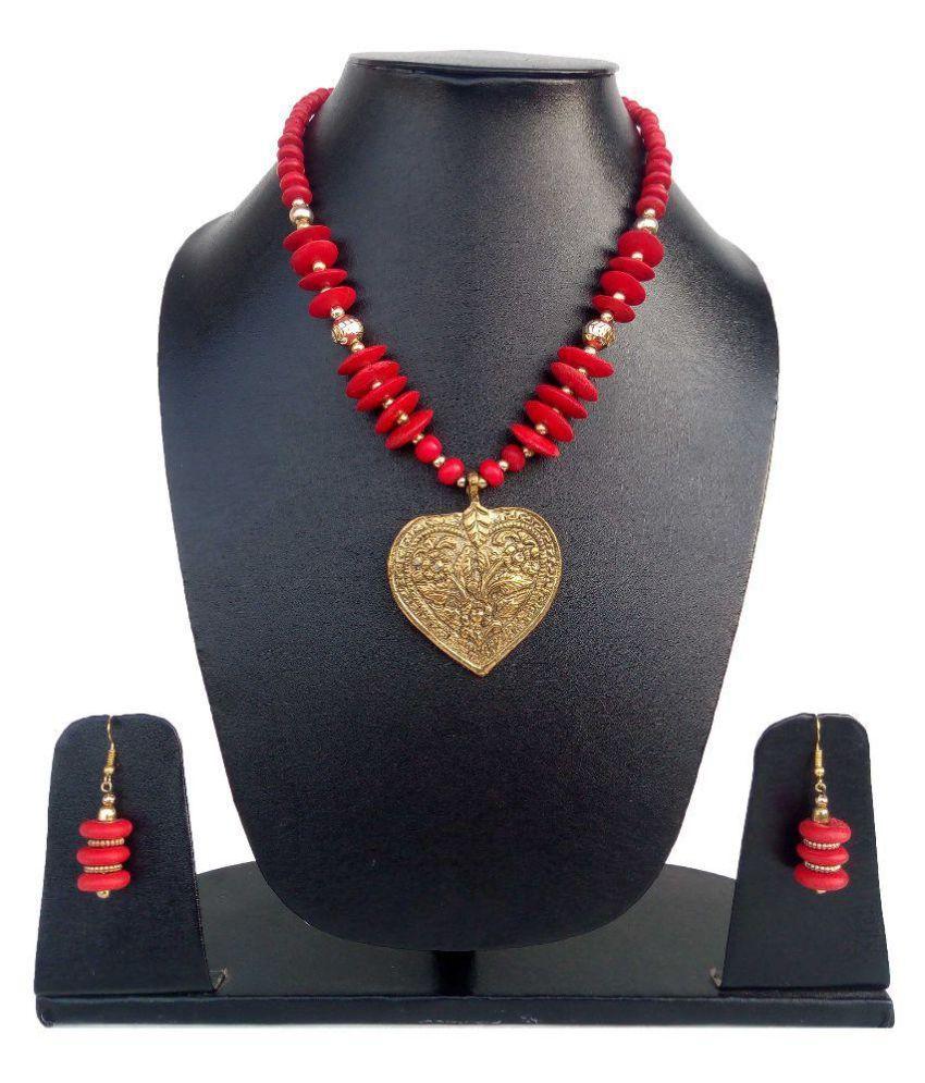 Hunar Arts & Handicrafts Multi Color Necklace Set