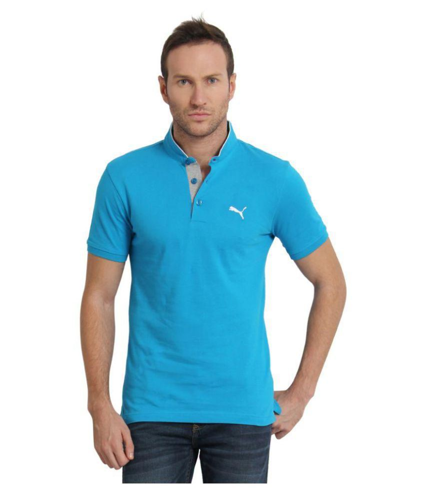 Puma Blue Slim Fit Polo T Shirt