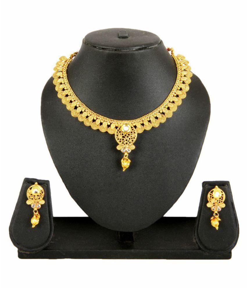 Adoreva Golden Necklace Set