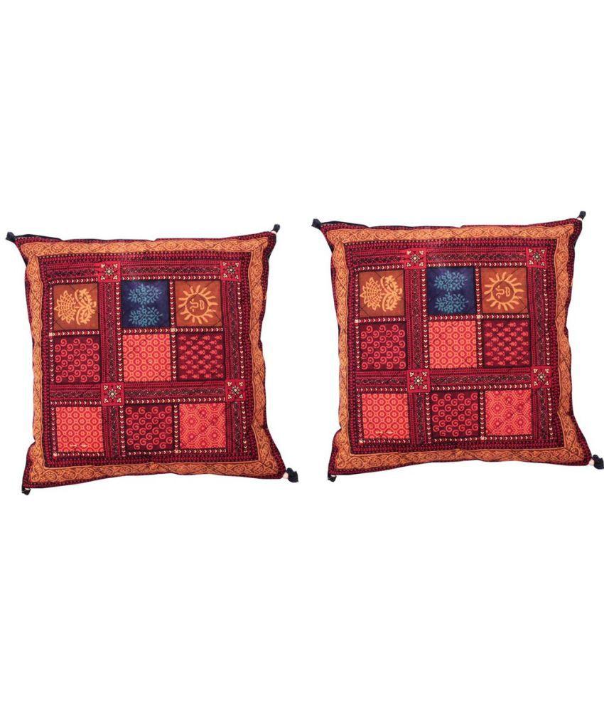 Gomati Ethnic Set of 2 Cotton Cushion Covers