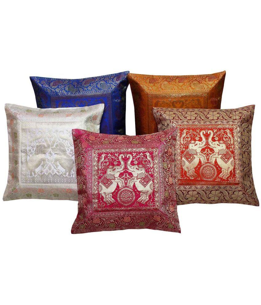 Gomati Ethnic Set of 5 Cotton Cushion Covers