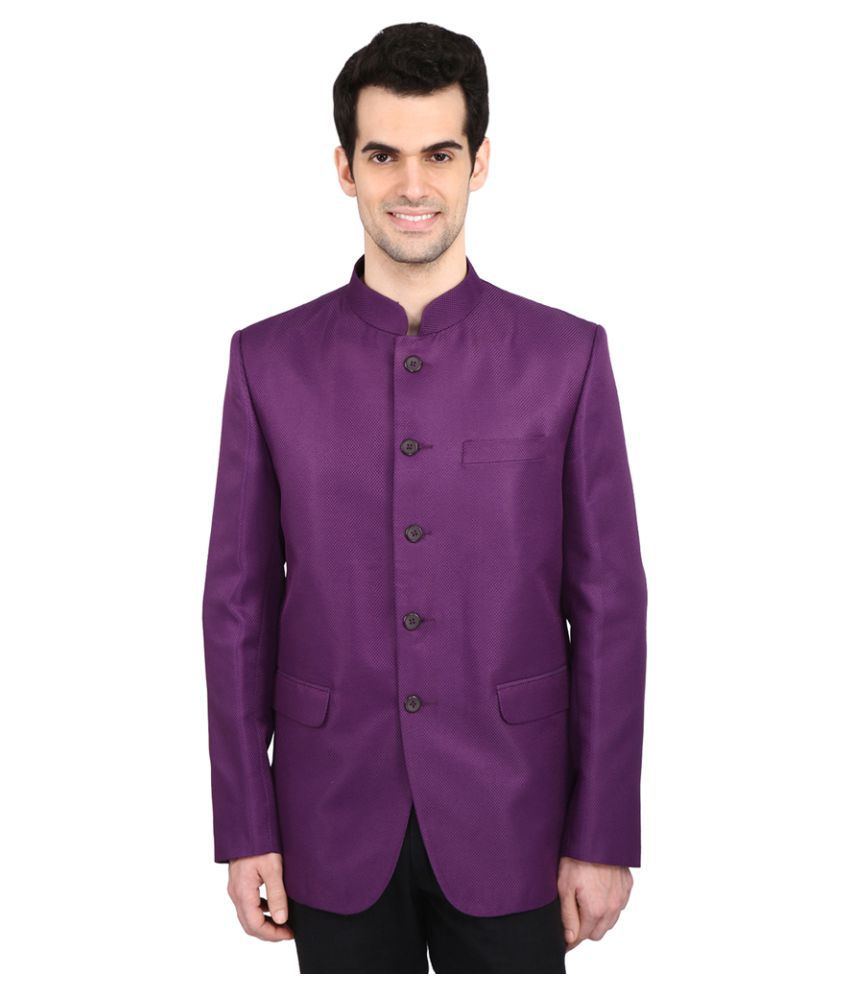 Indian Attire Purple Solid Party Tuxedo