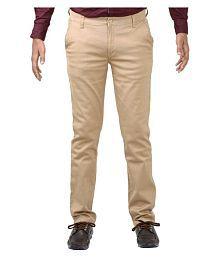 Indigen Beige Slim Flat Trouser