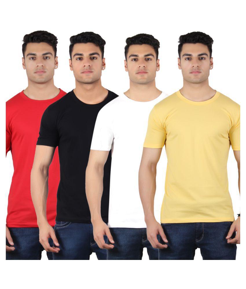 Diaz Multi Round T-Shirt Pack of 4