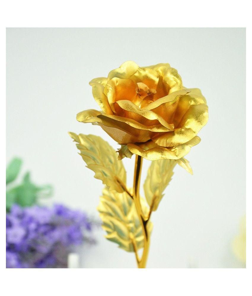Rrammg Enterprises Golden Rose Valentine Gift Showpiece Buy Rrammg
