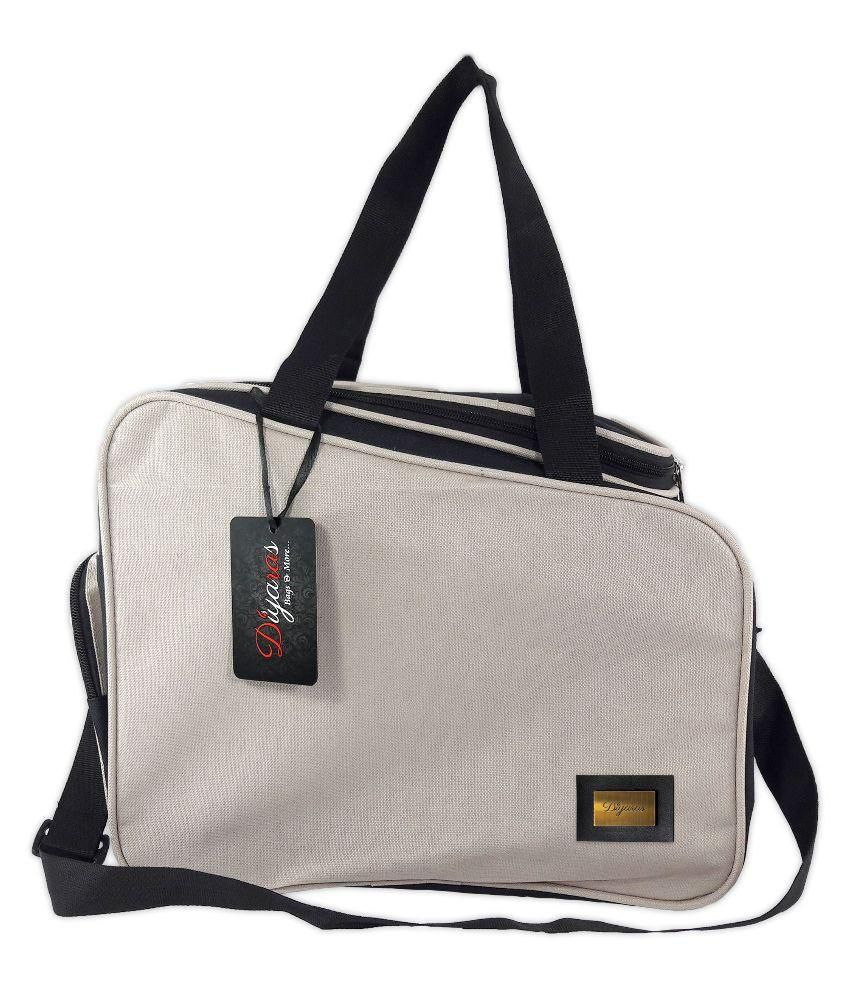 Diyaras Lifestyle Fit-Travel-Sports-Gym-Bag (Cream & Black).