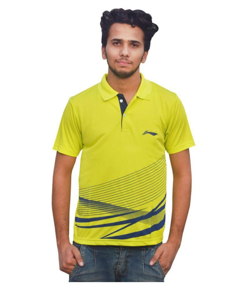 Li-Ning Green Polyester Polo T-shirt Single Pack