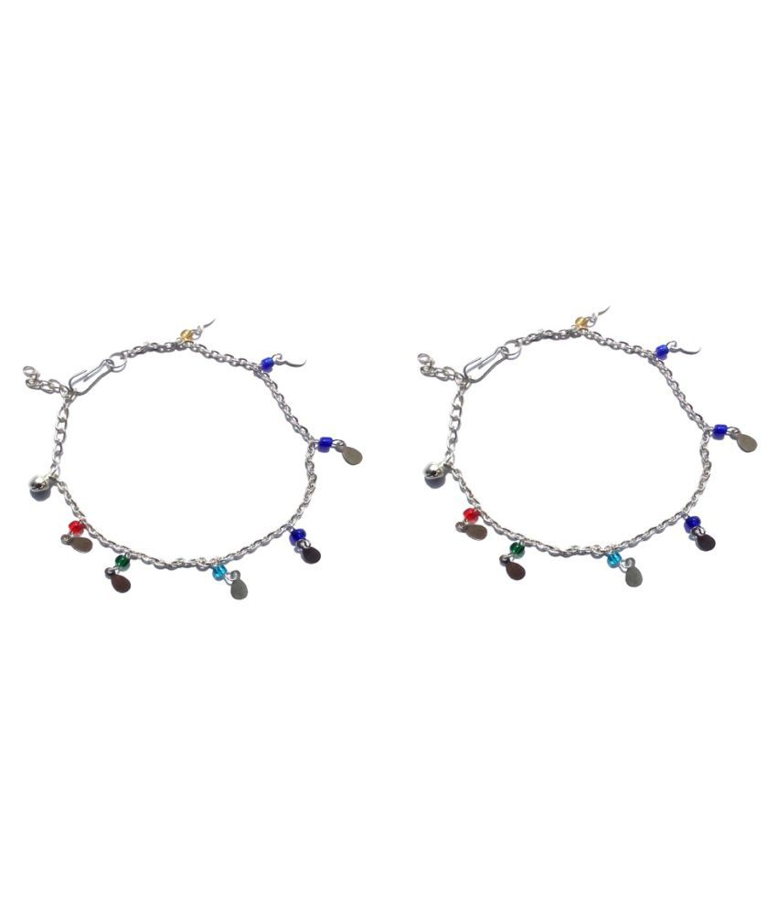Uma Multicolour Anklets - Pack of 2