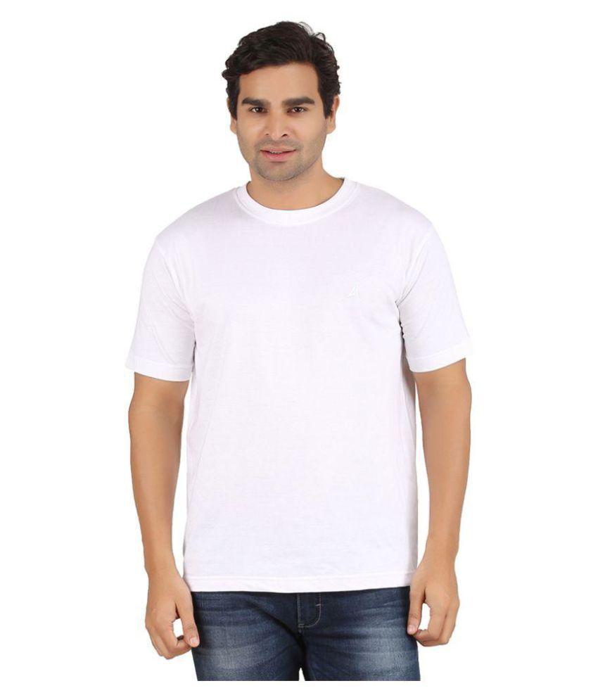 Arkatic White Round T-Shirt