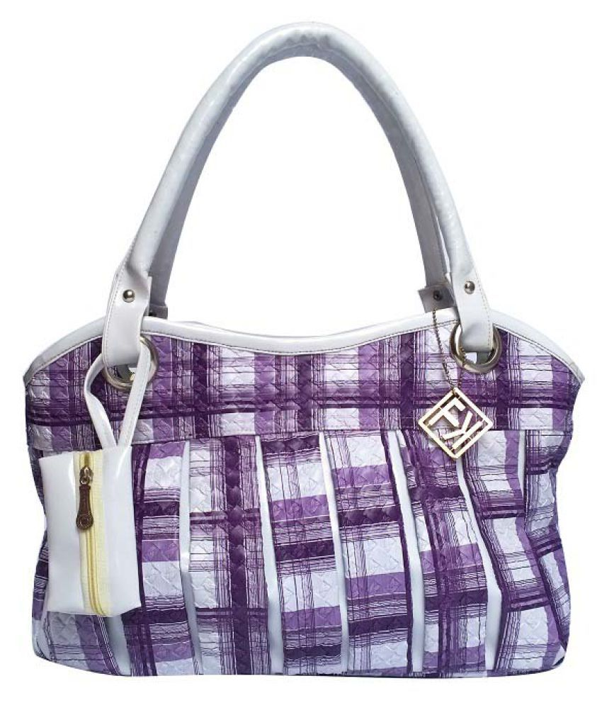 Fashion Knockout Purple Faux Leather Handheld