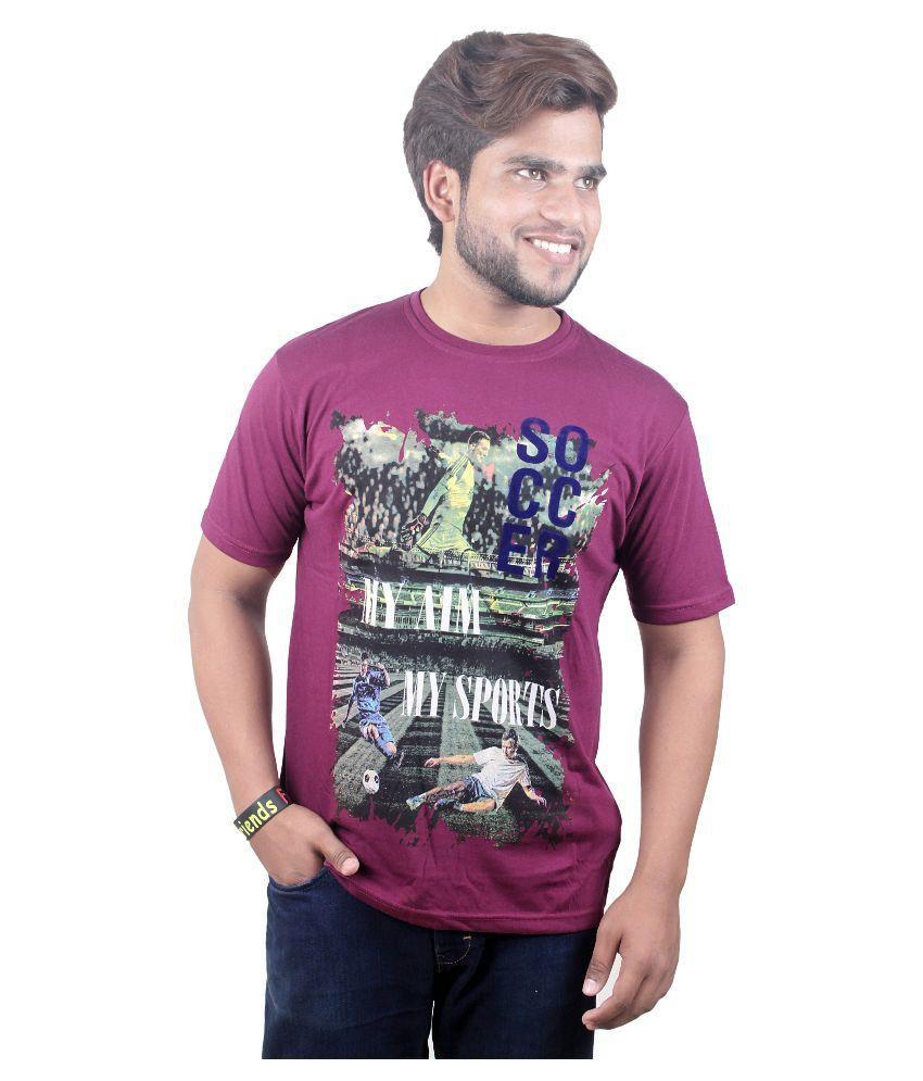 Lalita Fashion Purple Round T-Shirt