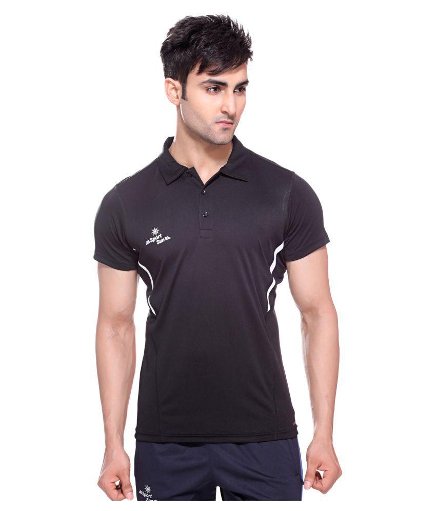 Sport Sun Sportswear Black Polo T-Shirt