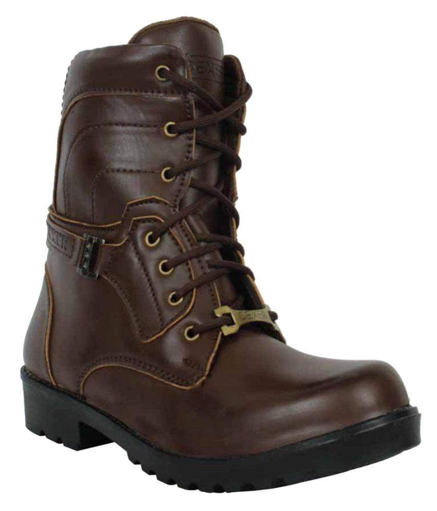 Elvace Brown Cowboy boot