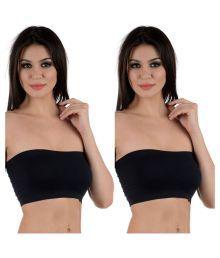 AayanBaby Black Cotton Lycra T-Shirt/ Seamless Bra