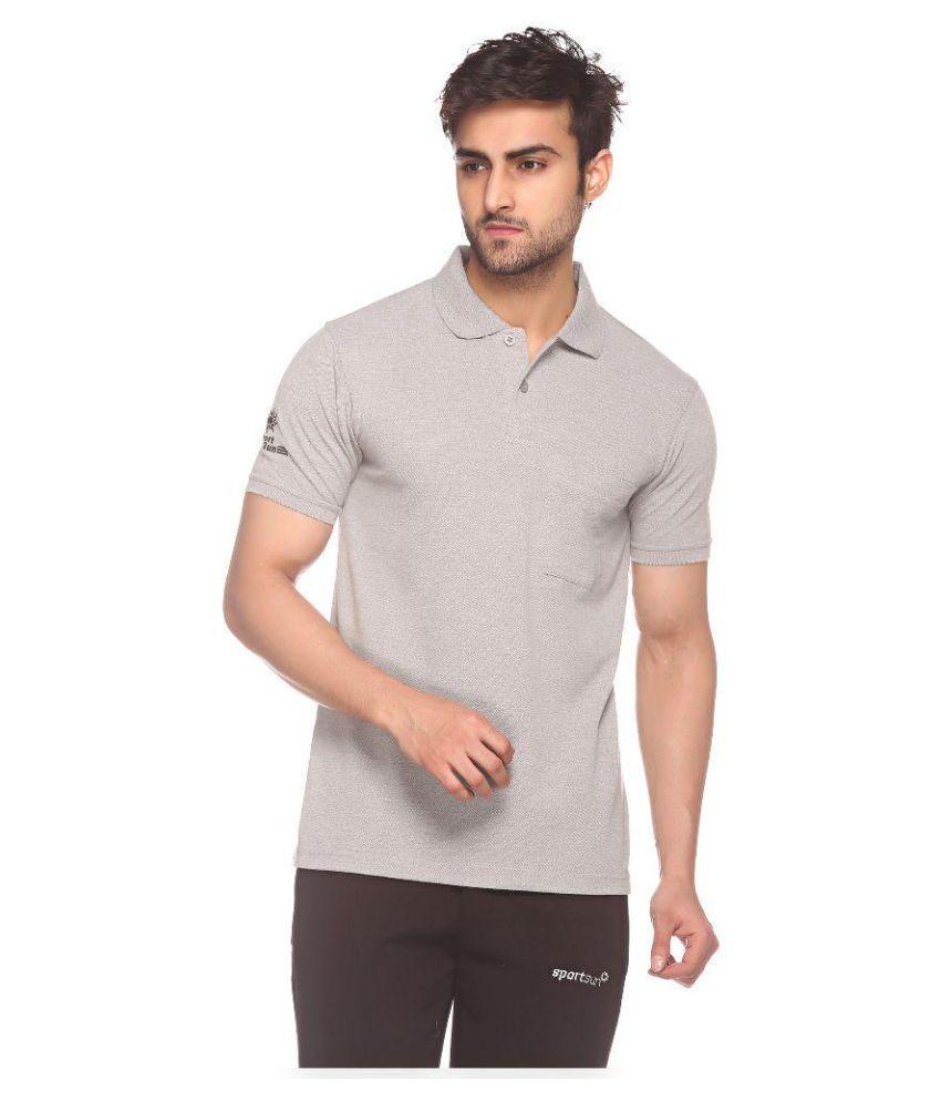 Sport Sun Light Grey Polo T-Shirt