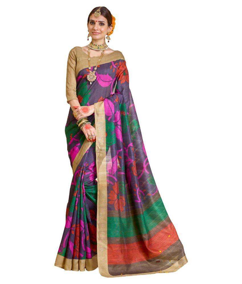 Kunal Multicoloured Bhagalpuri Silk Saree