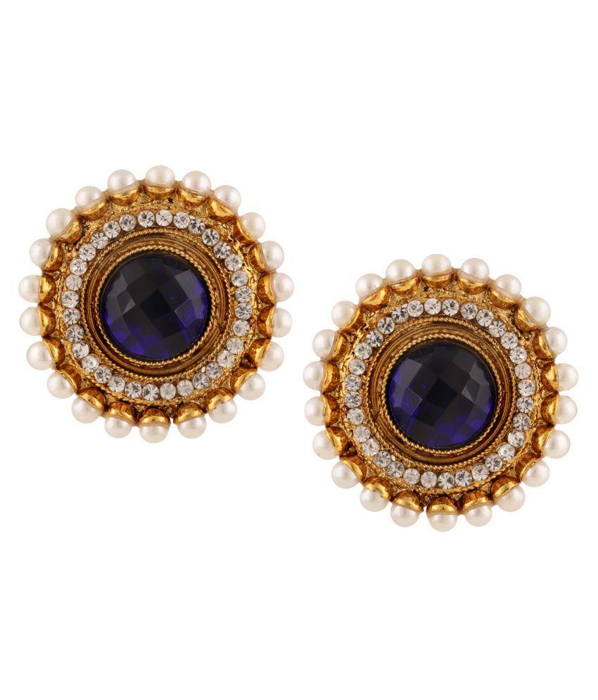 Adiva Multicolor Stud Earrings