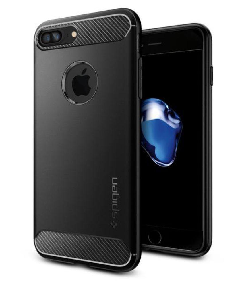 huge discount 70b41 cde36 Spigen iPhone 7 Plus / iPhone 8 Plus Case Rugged Armor Black 043CS20485