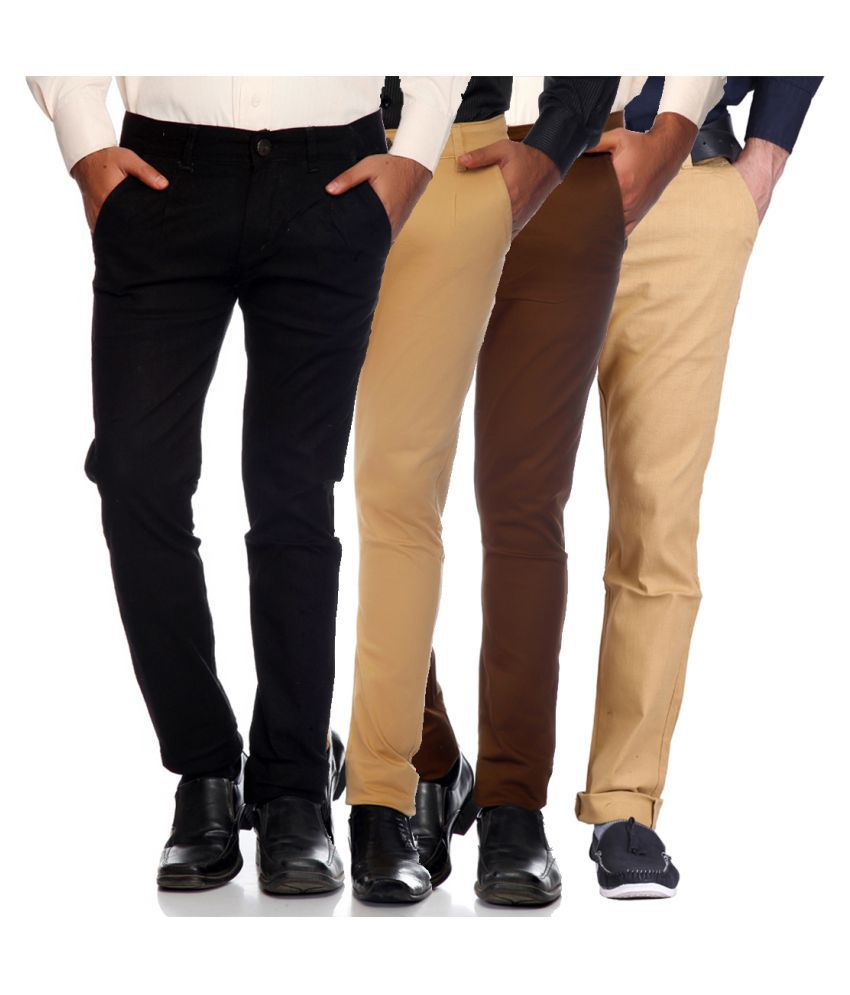 Van Galis Multi Slim Flat Trouser