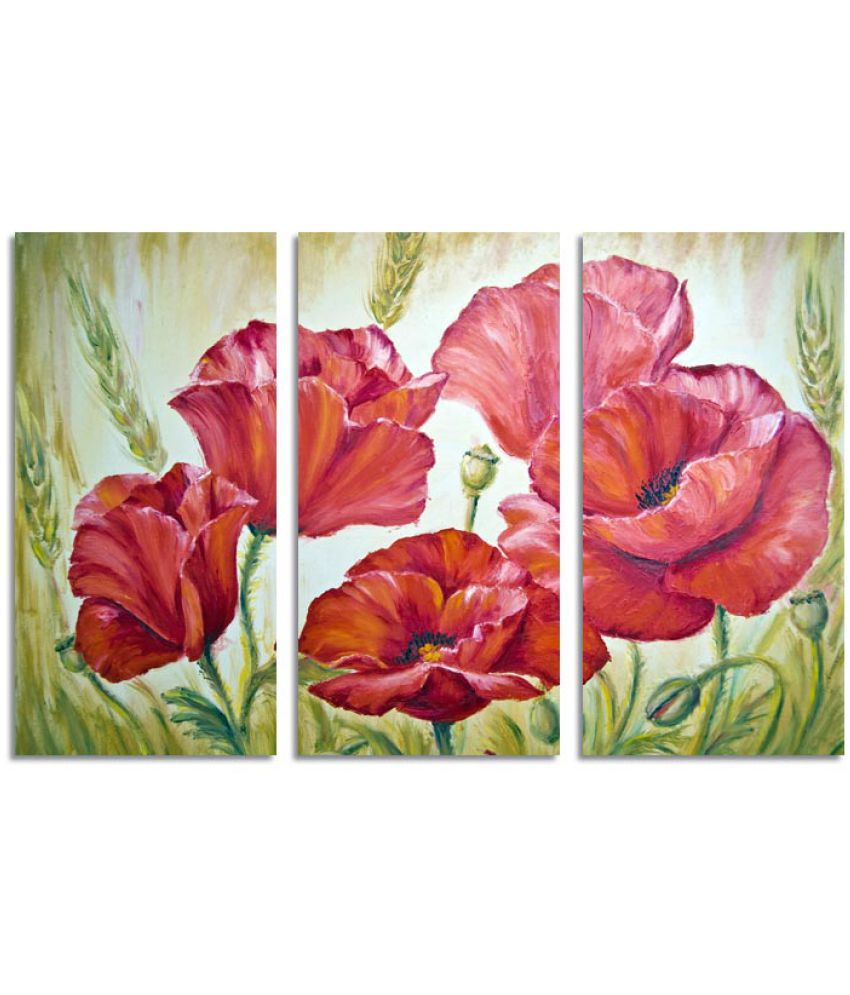 Ell Decor Floral Canvas Art Prints Without Frame 3 Combination