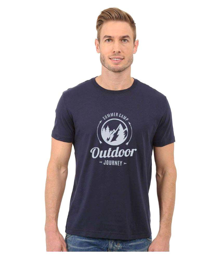 Redfool Fashions Navy Round T-Shirt
