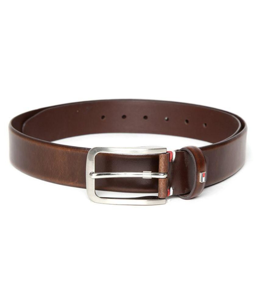 21813ffb Tommy Hilfiger Brown Leather Formal Belts: Buy Online at Low Price in India  - Snapdeal