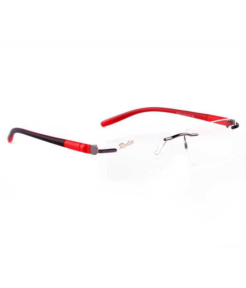 Red Rimless Glasses : Buy Redex Red Rimless Eyeglasses Frame for Men Online ...