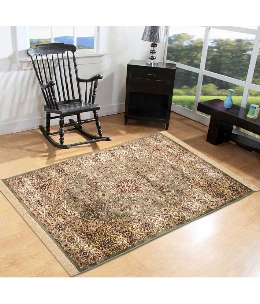 Furnishingland Multi Silk Carpet Ethnic 4x6 Ft.