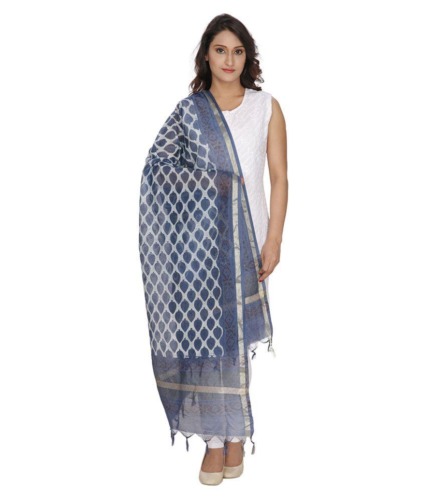 Loom Legacy Blue Self Dupatta