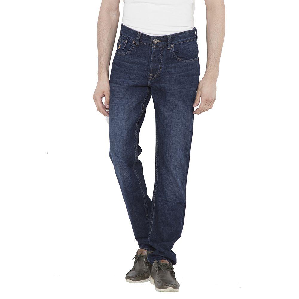 U.S. Polo Assn. Dark Blue Regular Fit Faded