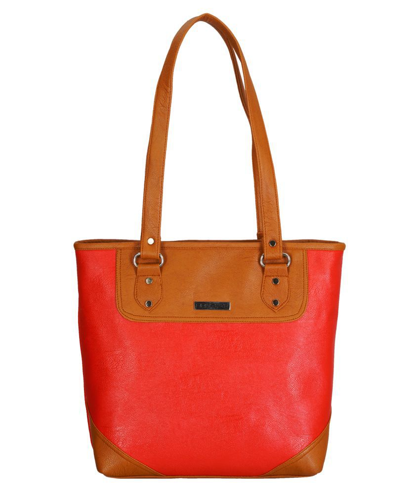 Fantosy Orange P.U. Tote Bag