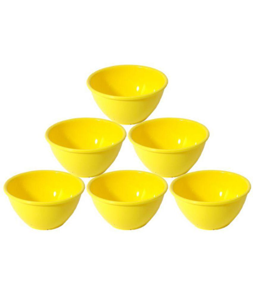 Bartan Hub Yellow Plastic Serving Bowl - Set Of 6  available at snapdeal for Rs.360