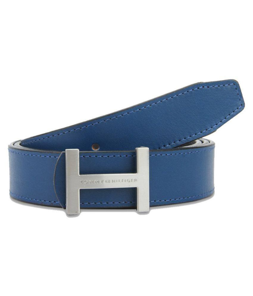 Tommy Hilfiger Blue Leather Casual Belts